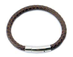 Genuine Leather Mens Bracelet Bangle Braided Cord with Durable Stainless Steel Leather Bracelet with Magnetic Clasp - http://jewelryfromchina.com/?product=genuine-leather-mens-bracelet-bangle-braided-cord-with-durable-stainless-steel-leather-bracelet-with-magnetic-clasp