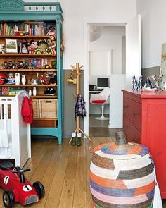 love this book case for my office color too! and for kids both