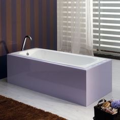 Bella Casa 59 Inch Cast Iron Drop In Tub - No Faucet Drillings - Drop In Tubs - Bathtubs - Bathroom width 27 1/2 ships w/in 4 business days