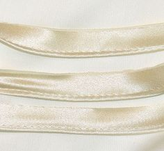 Charmeuse, Silk- Cream Piping