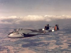 This Day in Aviation History September 1943 First flight of the de Havilland Vampire. The de Havilland Vampire was a British jet fighter developed and manufactured by de Havilland. Aircraft Parts, Fighter Aircraft, Military Jets, Military Aircraft, Air Fighter, Fighter Jets, Lancaster, Sky Bike, Alice In Wonderland Steampunk