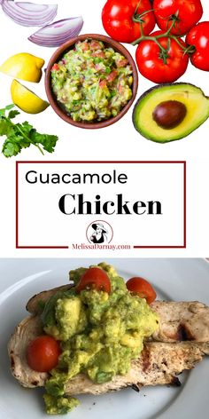 Guacamole Chicken is both healthy and delicious. Plus you can have dinner ready in less than 20 minutes. Forget the other cilantro lime chicken recipes...this is one of the most delicious marinades that will become your go-to chicken recipe.  WINE PAIRING: Be sure to check out the recipe for the best wine pairing with this Guacamole Chicken.  #guacamolechicken #salsalimechicken #chililime #limeandchili #cilantrolimechickenwithavocadosalsa #chililimechicken Chili Lime Chicken, Lime Chicken Recipes, Cilantro Lime Chicken, Spicy Recipes, Chili Recipes, Wine Recipes, Guacamole Chicken, Guacamole Recipe, Easy Homemade Chili