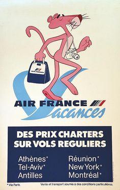 Air France Vacances ( Panthère Rose ) 1980 http://www.jetradar.fr/flights/Reunion-RE/?marker=126022.viedereve