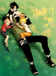 Feeling too Happy watching this. Team 7 - Sakura, Sasuke, Kakashi, & Naruto. Best team in the world. :)