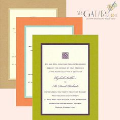 Show your creative side with layers!  Layers are increasingly all the rage and a great way to be unique, not only in clothing choices but in your invitations as well. http://ow.ly/f147d #wedding #invitations