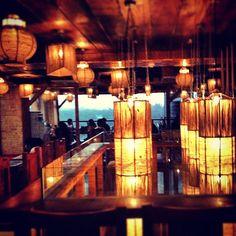 The beautiful restaurant in Hauz Khas village..