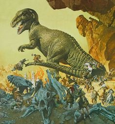 The Valley of Gwangi - art by Frank McCarthy ~ love those 60s monster movie posters!