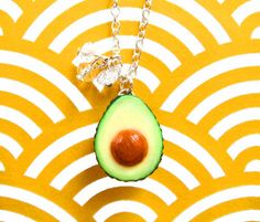 Avocado Necklace  Single by kawaiiculture on Etsy, $25.00