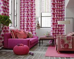 La vie en rose : Pink living room
