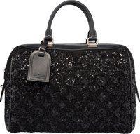 Louis Vuitton Limited Edition Black Leather & Wool Monogram Sunshine Express Speedy Bag Excellent to Pristine C...