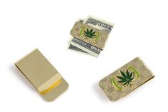Green Solutions Gold Etched Money Clip