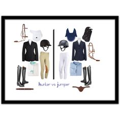 Hunter vs Jumper by pete-is-my-horse on Polyvore featuring Ariat and Swarovski