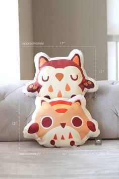 Peach Owl Cushion by thousandskies on Etsy