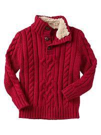 Cable mockneck sweater-the boys Christmas sweater, Boys Knitting Patterns Free, Baby Knitting, Toddler Swag, Toddler Outfits, Baby Sweaters, Sweaters For Women, Men Sweater, Little Man Style, Crochet Monokini
