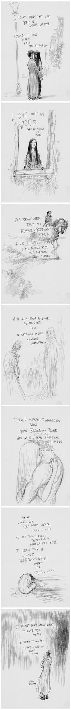 Dark Sonnet by Neil Gaiman, illustrated by Chris Riddell #Poetry #Poem #Illustration #Drawing