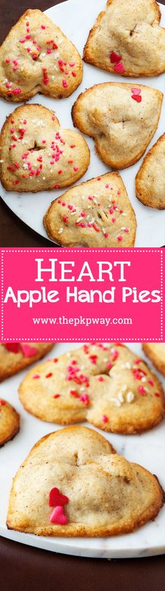 These heart apple hand pies are completely irresistible with their utterly flaky crust and scrumptious cinnamon and apple filling.