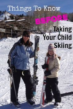 Things To Know Before Taking Your Child Skiing