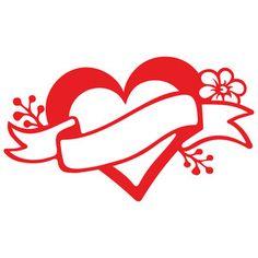 Silhouette Design Store: heart tattoo