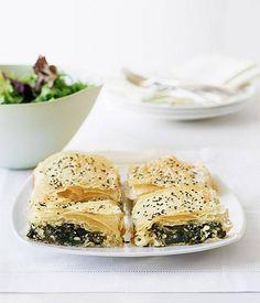 Spinach and feta tart - Gourmet Traveller