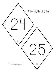 Numeral Clip Kites 6 -7 | latawce i wiatraki | Pinterest | Kites ...