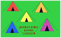 Welkom op camping Zomerzon! Een rekenactiviteit voor kleuters.