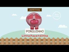 ✄ Faça Você Mesmo: Porquinho de feltro - Ateliê Linna - YouTube
