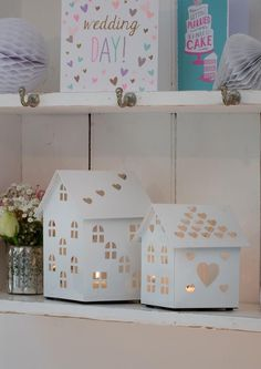 White House T Light Holder T Lights, Tea Light Holder, Spring Collection, Toy Chest, Storage Chest, Kids, House, Wedding, Furniture