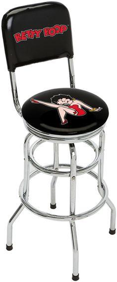 LUV LUV LUV BETTY BOOP! Betty Boop Purses, Black Betty Boop, Pub Chairs, Betty Boop Pictures, Things To Buy, Stuff To Buy, Dorm Decorations, Bar Stools, Hello Kitty