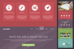 Free one page PSD template. Awesome for personal web site.