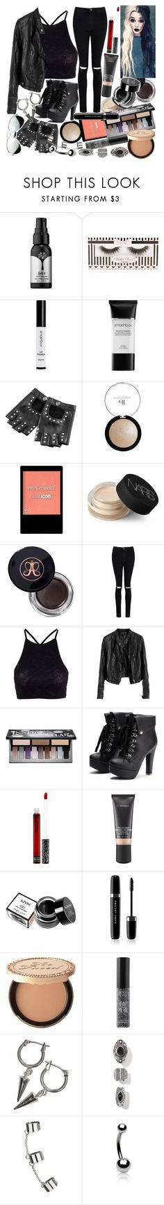 """Why don't you say so? I think I'm caught in between, the nights and days fly by when I'm lost on the streets. And my eyes, they despise you for who I am"" by thelyricsmatter ❤ liked on Polyvore featuring Kat Von D, Violet Voss, Smashbox, Wet n Wild, NARS Cosmetics, Anastasia Beverly Hills, Boohoo, Y.A.S, MAC Cosmetics and NYX"
