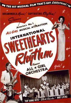 PlanetBarberella's Bipolar express: international sweethearts of rhythm Swing Jazz, Swing Dancing, Cd Album Covers, Music Covers, 1940s Music, Big Band Jazz, Jazz Poster, Musical Film, Boogie Woogie