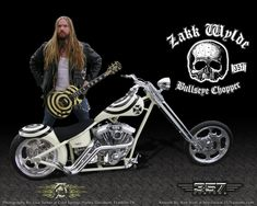 ☯☮ॐ American Hippie Heavy Metal Rock Music 🎼 Zakk Wylde and his Bullseye Chopper Heavy Metal Rock, Heavy Metal Bands, Black Stone Cherry, Band On The Run, Pride And Glory, Black Label Society, Zakk Wylde, Biker Quotes, Custom Choppers