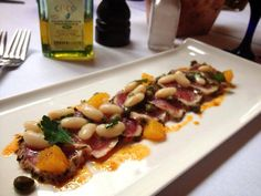 Try our Tuna Crudo, Cannellini Beans, Capers, Orange and Paprika Oil to start your dinner tonight!