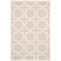 Found it at Wayfair - Cambridge Light Pink / Ivory Area Rug
