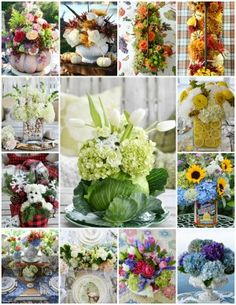 I gathered some flowers and floral arranging tips from the archives for a little flower therapy! I like to pick up flowers at the Farmers Market in the summer for a flower fix. Summer Flower Arrangements, Fall Arrangements, Floral Centerpieces, Bee On Flower, Flower Pots, Diy Flower, Apple Fritter Bread, Floral Foam, Flower Market