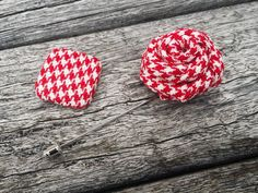 Red White Lapel Flower  Houndstooth Lapel Flower  Men by MayCheang