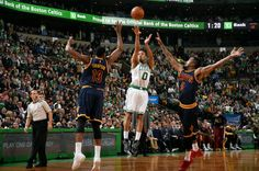 Avery Bradley of the Boston Celtics in the smallest of windows, Lets it fly! #NBAPlayoffs Game 4.