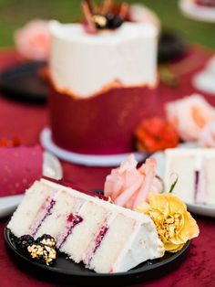 This jewel tone lakeside wedding inspiration in Coffenbury Lake located near Astoria, OR. is modern, unique and all around inspiring. Lakeside Wedding, Wedding Desserts, Jewel Tones, Delicious Desserts, Sweet Tooth, Cheesecake, Wedding Day, Wedding Inspiration, Jewels