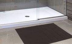"""Royal Bath Collection Luxurious Memory Foam Solid Color Large (21"""" x 34"""") Bath Mat with Anti-Slip Latex Backing (Brown)"""