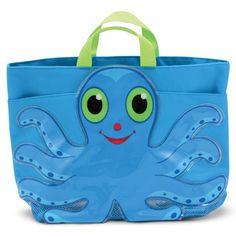 Flex Octopus Beach Tote Bag.