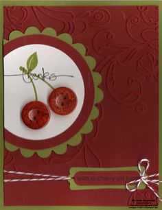 With a Cherry on Top by Michelerey - Cards and Paper Crafts at Splitcoaststampers