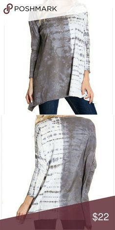 """Tie-dye Blouse New, no flaws, no tags  100% cotton Hand Wash Cold, Hang To Dry  26"""" front length lying flat 27"""" back length lying flat 29"""" side length lying flat  All measurements are approximate.   MADE IN USA Tops Blouses"""