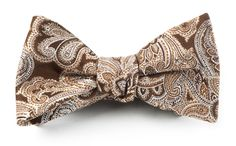 DESIGNER PAISLEY BOW TIES - CHOCOLATE BROWN | Ties, Bow Ties, and Pocket Squares | The Tie Bar