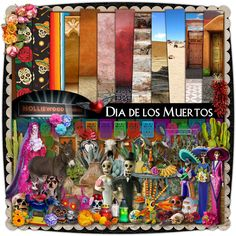 Dio De Los Muertos by Holliewood Studios @ Mischief Circus Digital Scrapbook Kit Digital images for your art and scrapbooking.