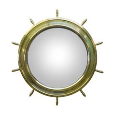 1940s Brass Mirror attributed to Hermes | 1stdibs.com