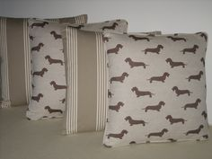 Cushions for a lovely Anglesey holiday home. The fabrics are from Ian Mankin and Emily Bond