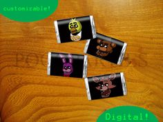 PRINTABLE Fnaf/ Five nights at freddy's mini candy by PogoParties