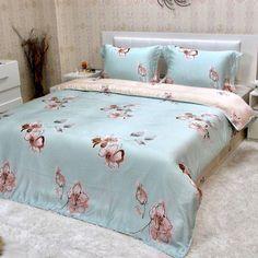 Completo lenzuola matrimoniale maxi copripiumino di Tencel® *Elinor*