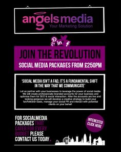 The Angels Media team designed this great mailer to promote Social Media Packages, Power Of Social Media, Digital Marketing, Angels, Templates, Writing, Business, Design, Stencils