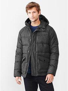 Tweed puffer jacket   Gap